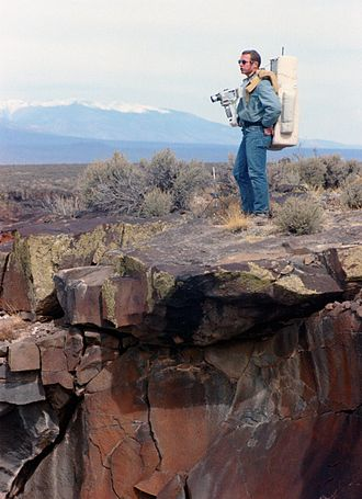 Apollo 15 - Commander David Scott during geology training in New Mexico on March 19, 1971