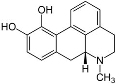 Strukturformel von Apomorphin