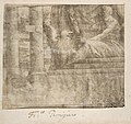 Apparition of Christ (recto); Printed Fragment with Jupiter Enthroned with Eagle, from Caraglio's Martyrdom of Saint Peter and Saint Paul (verso). MET DP810980.jpg