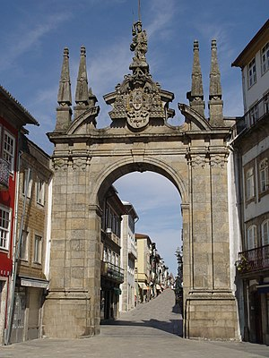 European Youth Capital - Image: Arco da porta nova Braga