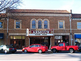 National Register of Historic Places listings in Clay County, Missouri - Image: Armour Theatre Building 2012 09 18 00 58 50
