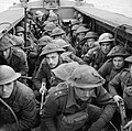 Army Commandos in a landing craft during training in Scotland, 28 February 1942. H17472.jpg