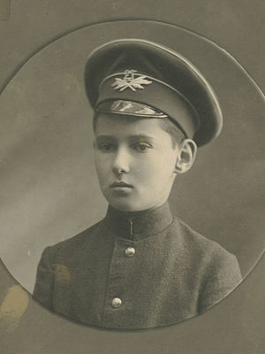 Arnold Ross - Ross as young boy in school uniform