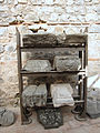 Artifacts at Felix Romuliana, carved stone fragments of architecture from buildings. Serbia.jpg