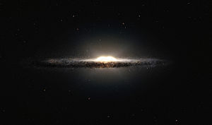 Bulge (astronomy) - Image: Artist's impression of the central bulge of the Milky Way