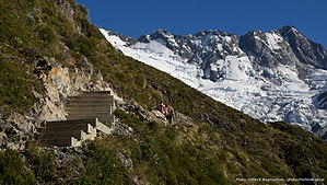 Mount Ollivier - Image: Ascent to Mueller Hut and Mount Ollivier