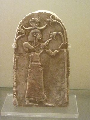 Tell Beit Mirsim - A stela from Tell Beit Mirsim