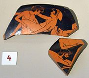Attic red-figure Kylix fragments Antikensammlung Berlin 1976.5.jpg
