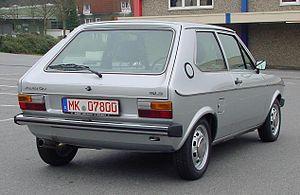 Audi 50 - Audi 50 GLS - rear view