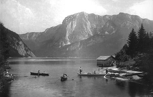 Ausseer See, Blick gegen die Trisselwand - 1902