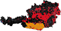 Austrian legislative election 2008 result by municipality.png