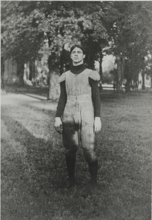 Auxford Burks - Burks in his football uniform c. 1905