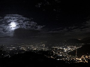 Avellino - Avellino by night, panorama from Montevergine.