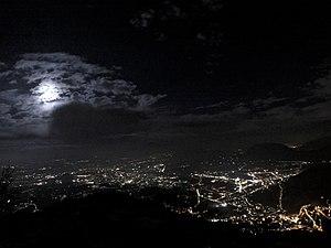 Avellino - Avellino by night, panorama from Montevergine.