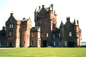Barons in Scotland - Ayton Castle, Scottish Borders, caput  of the feudal barony of Ayton. Built in 1851 in the Scottish Baronial style by William Mitchell-Innes, then feudal baron of Ayton,  to the design of  James Gillespie Graham