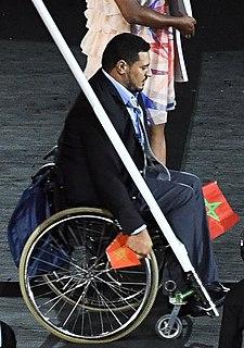 Azeddine Nouiri Moroccan wheelchair athlete