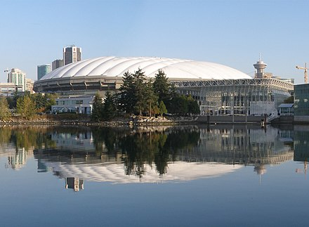 Exterior view of BC Place from the south, with its original roof, October 2005 B.C. Place from False Creek (cropped).jpg