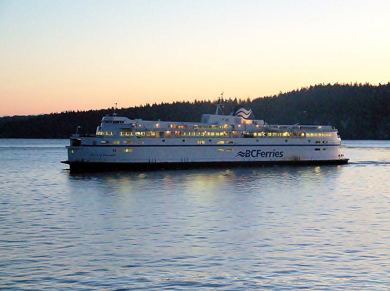Andar de ferry em Vancouver