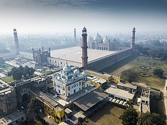 Samadhi of Ranjit Singh - The shrine was built at the northeast corner of the Badshahi Mosque.