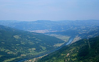 Podrinje - The Drina valley looking towards Bajina Bašta