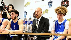 6ab7ed520 Ball (right) with his father LaVar and brother LiAngelo after an exhibition  game in 2018.