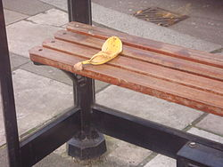 Banana peel on seat.JPG