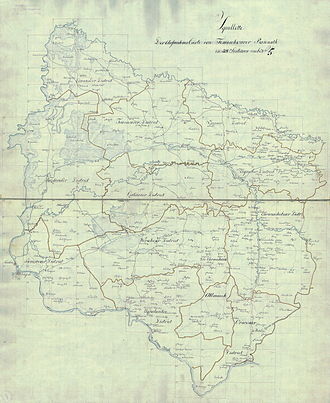 Banat - Banat region in the cadastral map of the 1769-1772 census