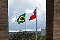 Bandeiras do Brasil, Chile e Mercosul.jpg