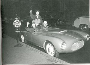 Giovanni Bracco - Giovanni Bracco at the wheel of a Bandini 1100 Sport in New York.