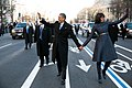 Barack Obama and Michelle Obama in inaugural parade 01-21-13.jpg
