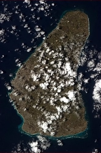 Geography of Barbados - Barbados, seen from the International Space Station