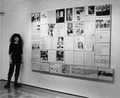 BarbaraRosenthal-InFrontOfHomoFuturusWallWork-AtCarloLamagnaGallery-Dec1987.tif