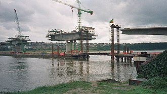 Barnstaple Western Bypass - Barnstaple Western Bypass during construction