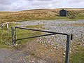 Barrier and shed - geograph.org.uk - 1504452.jpg