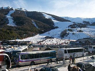 Alpine skiing - Alpine ski slopes in San Carlos de Bariloche (Argentina)