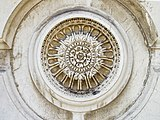 Basilica Santa Maria della Salute Dorsoduro Venezia dettaglio decorativo facciata.jpg
