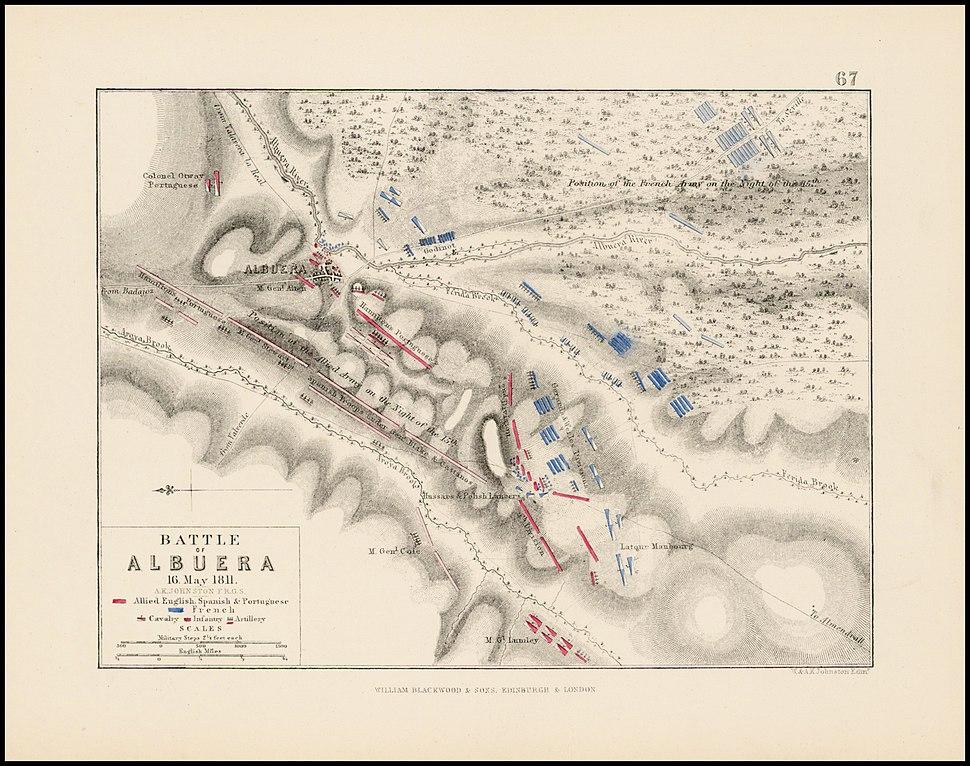 Battle of Albuera (1811) map