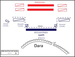 Battle of Dara - Image: Battle of Dara battleplan