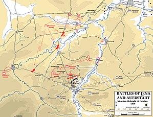 Karte der Schlachten