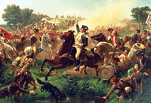 Battle of Monmouth -  Washington Rallying the Troops at Monmouth  by Emanuel Leutze