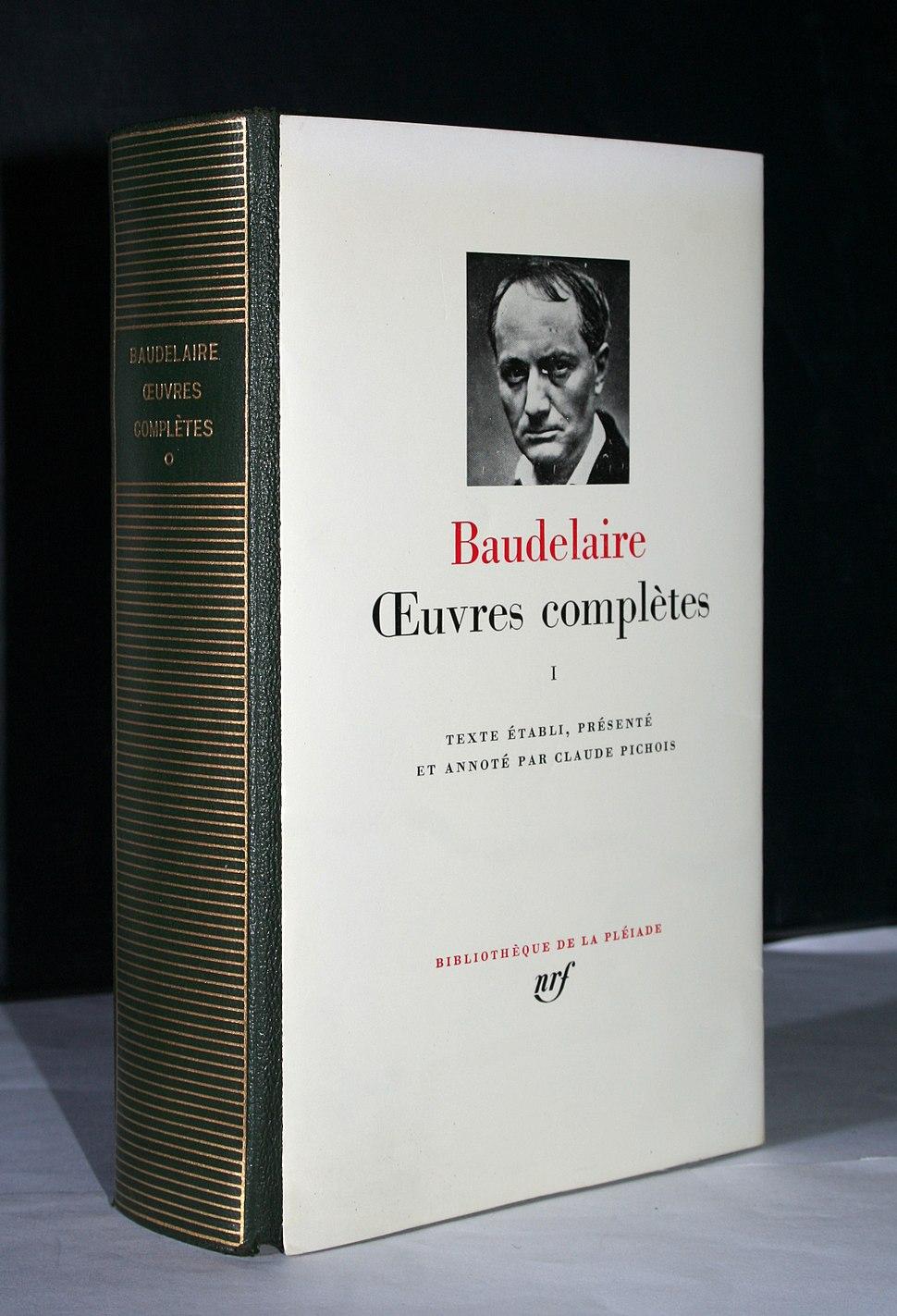 Baudelaire, Bibliothèque de la Pléiade, Œuvres complètes, volume I, dos et jaquette