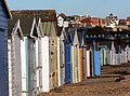 Beach Huts at Bulverhythe, West St Leonards on sea. March 2006. - geograph.org.uk - 136934.jpg