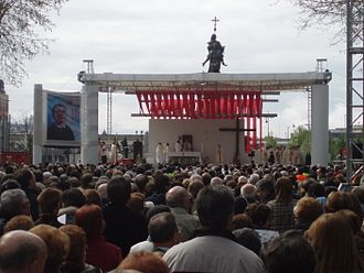 Bernardo Francisco de Hoyos de Seña - Bernardo's beatification in 2010.
