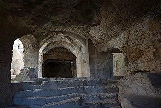 Abbey of Saint-Roman abbey located in Gard, in France