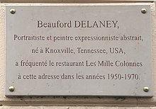 Beauford Delaney - plaque .JPG