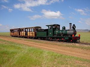 Sandstone Estates - Falcon Engine works number 232/1895, restored as Beira Railway number 7, April 2006
