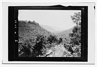 Beit ed-Din. The Shehab Palace (held as a national monument). Lebanon. Terraced and wooded valley. From Beit ed-Din LOC matpc.14206.jpg