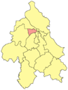 Location of Novi Beograd in Belgrade