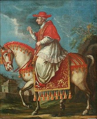 Pope Benedict XIII - Pope Benedict XIII travelling on horseback.