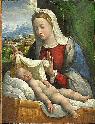 Benvenuto Tisi - Jesus sleeping (Louvre).
